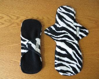 Zebra Minky Reusable Cloth Pad