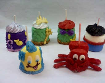 The Little Mermaid Inspired Giant Marshmallow Pops 1, 2 or 3 sets Your choice