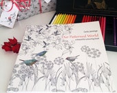 Adult coloring book, colouring pages, a gorgeous gift for her.