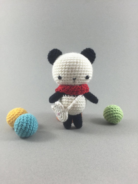 Crochet panda amigurumi panda bear crochet bear stuffed for Puffer fish stuffed animal