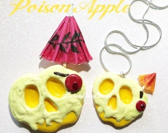 Disney Inspired Dole Whip Drip Snow White Poison Apple Brooch or Necklace