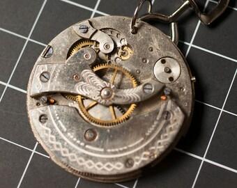 Steampunk Re-purposed Necklace Pendant Vintage Pocket Watch Jewelry Precious Metals