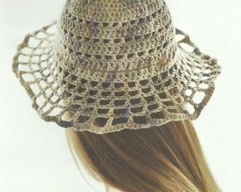 Crochet Sun Hat with Floppy Brim Crochet PDF Pattern
