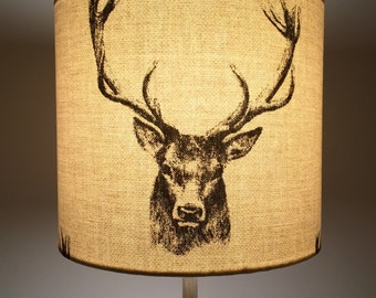 Country Stag Drum Lampshade