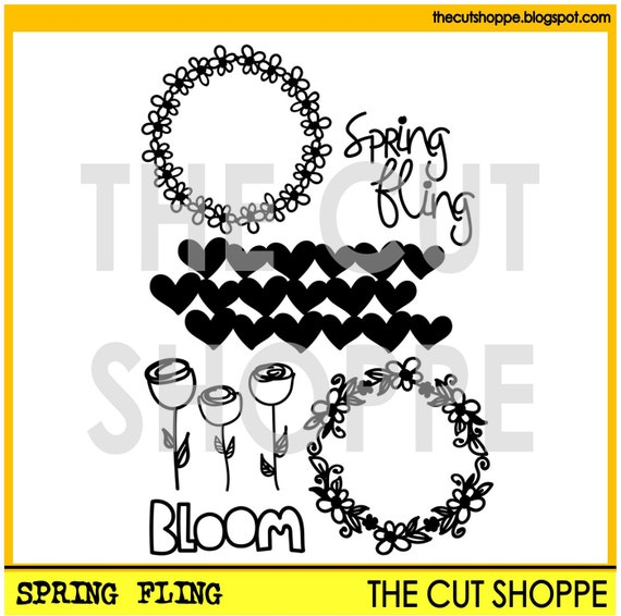 The Spring Fling cut file includes six spring themed images, that can be used for your scrapbooking and papercrafting projects.