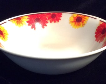 """American Atelier SUNFLOWER #5608 Stoneware Soup Cereal Bowl Dinnerware Excellent Condition 6 3/8"""" in diameter"""