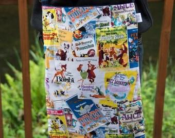 SALE!! DISNEY VINTAGE Poster Messenger bag with heavy duty straps, laptop bag, school bag, MacBook bag, backpack bag