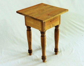 Customizable Cottage End Table Turned Legs