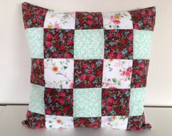 Patchwork Pillow Cover and Insert Pretty Contry
