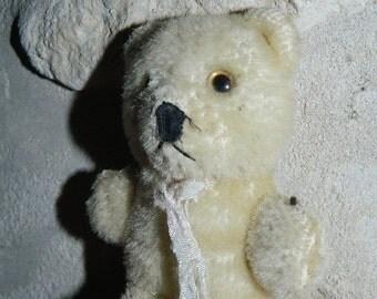 old toy, VINTAGE, former bears teddy bear plush, height 9.5 cm