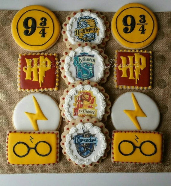 Cookies inspired by Harry Potter - listing for 1 dozen