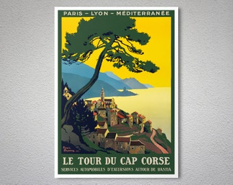 Le Tour du Cap Corse,  Corsica Island - Travel Poster - Poster Print, Sticker or Canvas Print