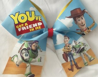 """You've got a friend in me - Toy Story """"TEXAS/CHEER"""" LARGE Size bow"""