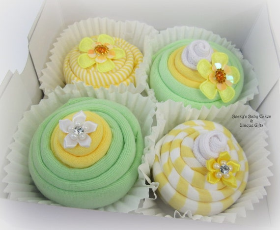 Neutral Baby Gift Baby Shower Gift Baby Cupcakes Baby Gift