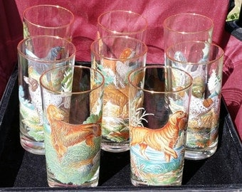 8 hunting dog tumbler set