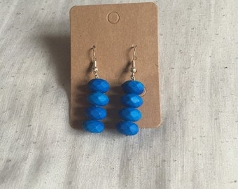 Neon Blue drop earrings