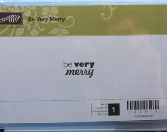 Be Very Merry Stamp - Stampin' Up! - single stamp