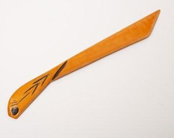 Antique vintage wooden Paper Knife   (Art CI948)