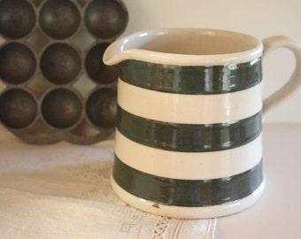 Bakewell's 1930s Jug ~ Green Stripes ~ Vintage Kitchenalia Farmhouse Kitchen