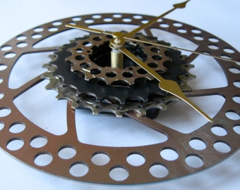 """Sprocket Clocks: cycling, bicycles, bikes... large """"sprocket clocks"""" - handmade from reclaimed bicycle parts"""