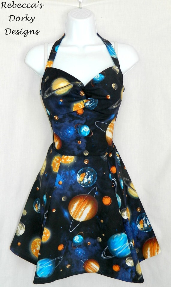 outer space planet dress measurements in by