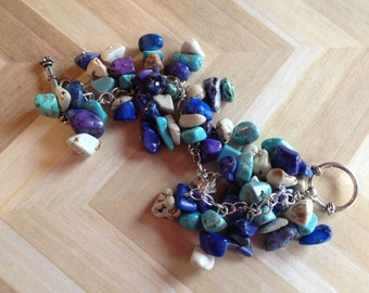 Colorful Stone Bracelet, StoneBracelet, Beaded Bracelet, Beadwork Bracelet, Gift For Her