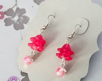 Silver plated Flower earrings - Nickel free