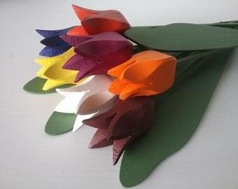 "Wooden Tulips Bouquet ""Pluto"""