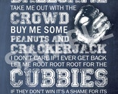 Cubbies 8x10 Print / Sign - Take Me Out to the Ballgame - Subway Art Print