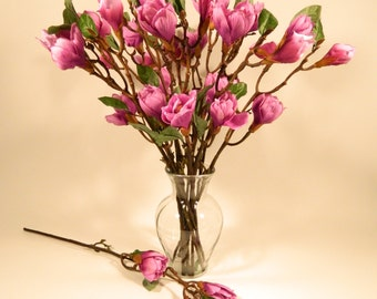 """Magnolia Bud Branch in Lavender Pink - 27"""" Tall"""