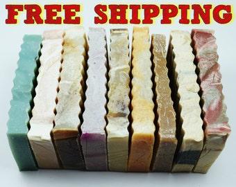 Soap Samples - Pick 20 Half Size Soaps for Soap Sampler Set, Small Soap Bar, Guest Soap, Mini Soaps, Sample Pack Soap, Sample Soap Bundle