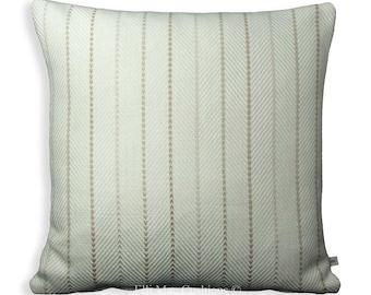 Sahco Designer Cushion Maloun Stripe Herring Bone Cream Sofa Throw Cover