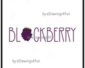 Blackberry. Berry Fruit Clip Art. Illustration. Digital Artwork. Print on T-shirts. Use as decoration. Print a poster. Hand drawn.