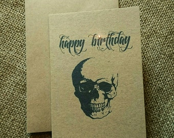 "Skull ""Happy Birthday"" greeting card"