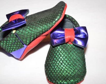 Little Mermaid Inspired moccasins