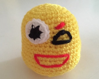 Goth emoticon, Goth emoji, crochet yellow goth emoji, crochet yellow goth emoticon, crochet yellow emoji, crochet yellow emoticon,