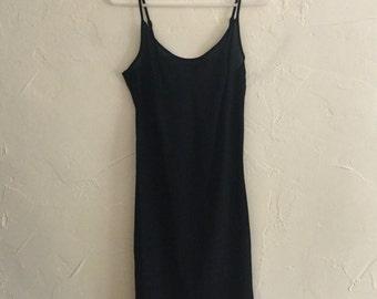 LAST CHANCE!!! 90s Little Black Sheer Slip Dress