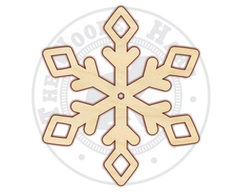 "Snowflake 4""-12"" - Wood Cutout  - 160236 - Unfinished wood"
