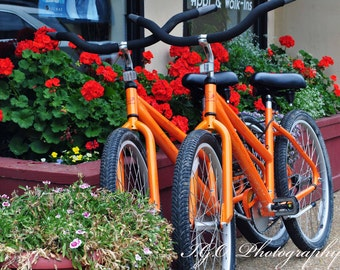 Bicycle - Bicycles - Bicycle Photography - Fine Art Photography -Nature Photography -Hilton Head Island - Bike Riding - Orange