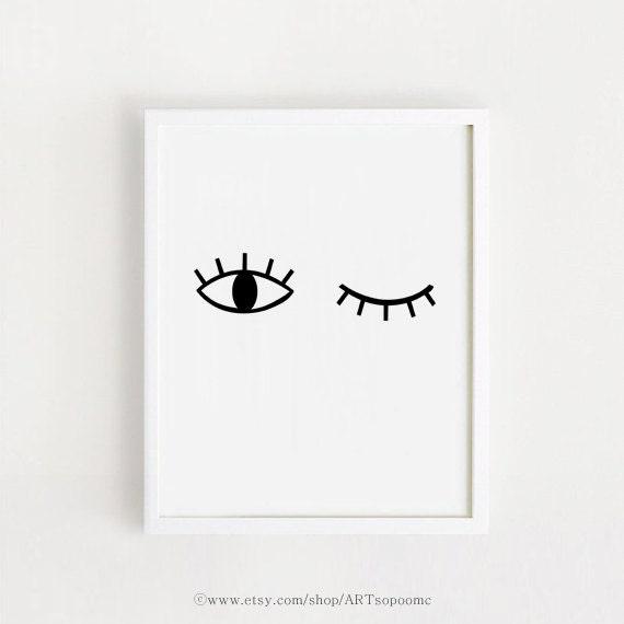 Art imprimable imprimer b b chambre t l chargement scandinave for Art minimaliste noir et blanc