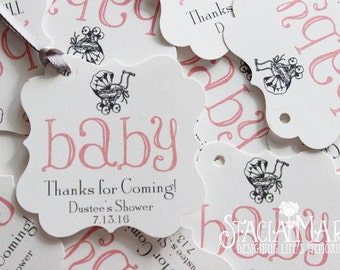 Vintage Baby Shower Favor Tags