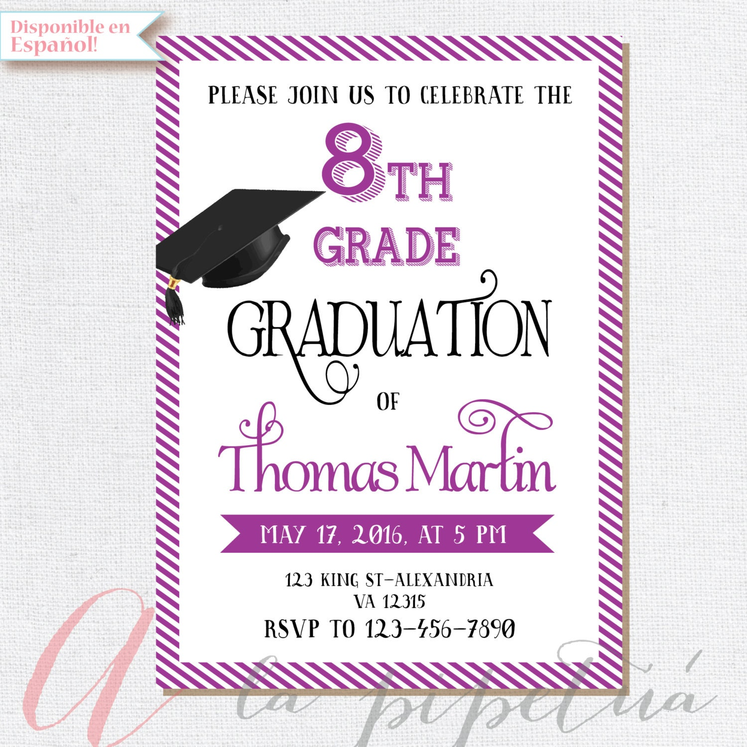 th grade graduation invite printable graduation invitation, invitation samples