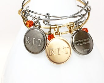 Rochester Institute of Technology Charm Bangle