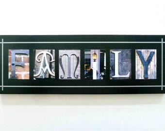 Unique Photo Letter Word Plaque