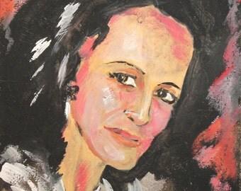 Woman Portrait Modernist Oil Painting