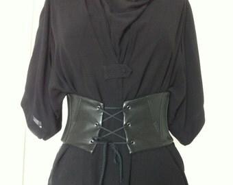 belt boned corset oprahblack