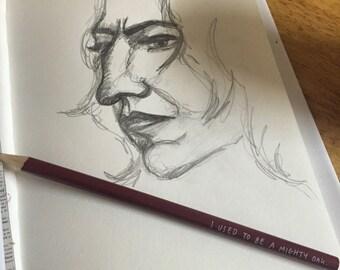 Alan Rickman as severus snape from harry potter sketch