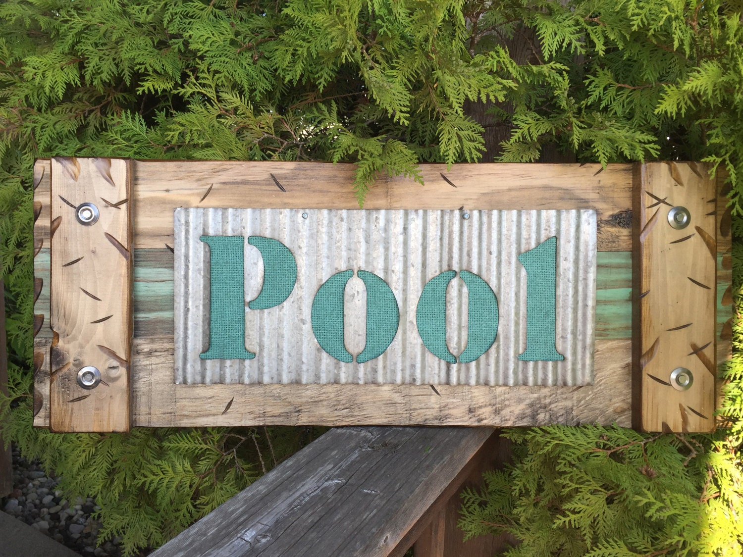 Pool Sign Wall Decor Industrial Pallet Barn Wood Ocean Summer Sea Lake Beach Wooden Home