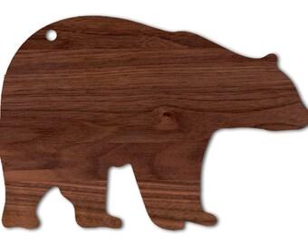 Black Walnut Black Bear Cutting Board
