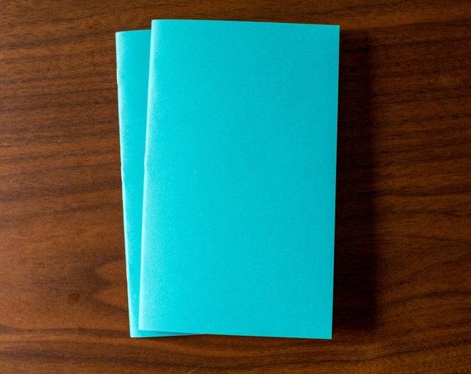 Teal Notebooks - 2 Pack Journal, Planner, Journal Insert, Planner Insert Mini Diaries, Jotters, Blank Books, Paper Notebook, bulk